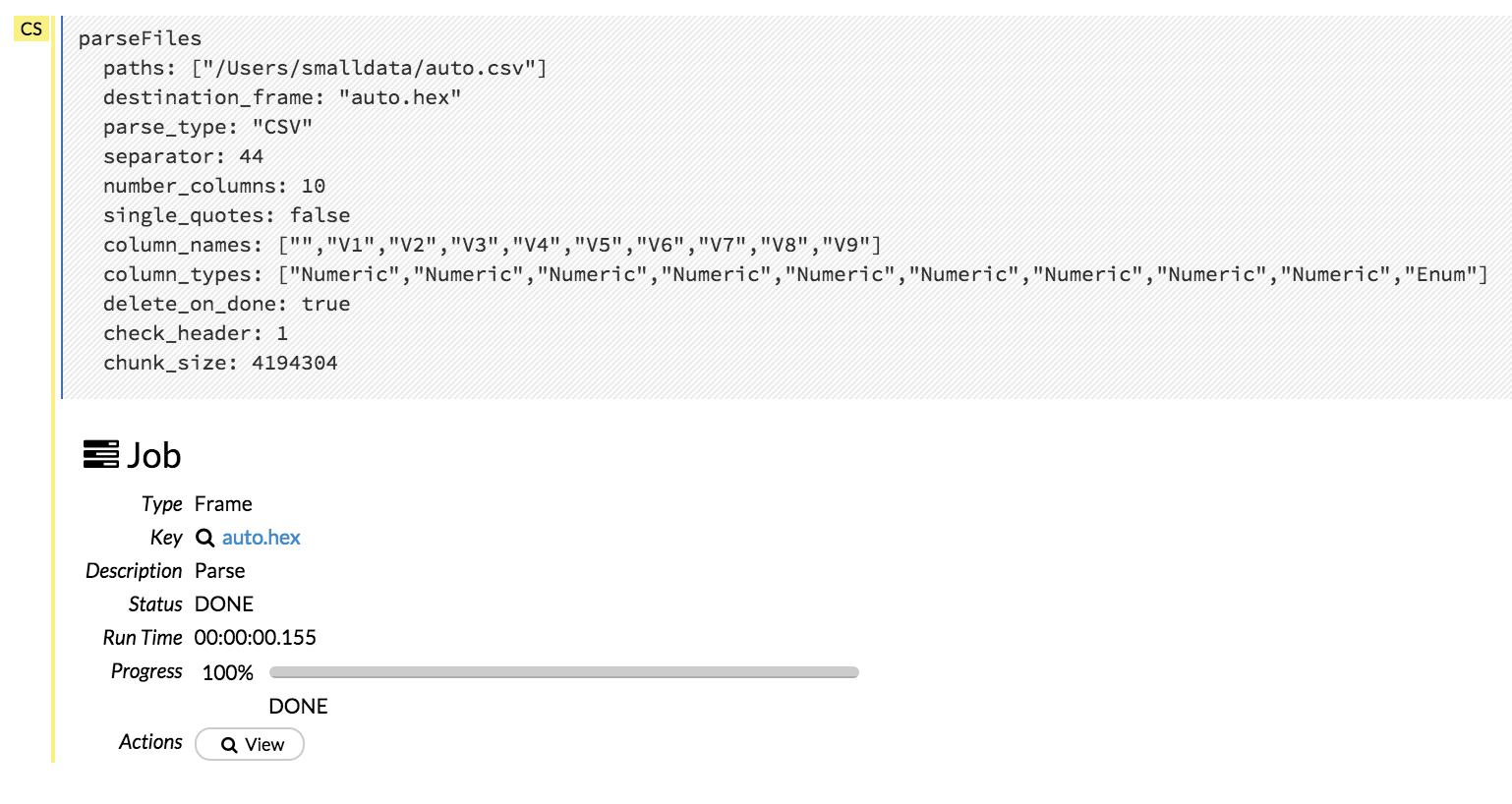 Using Flow - H2O's Web UI — H2O 3 10 4 2 documentation